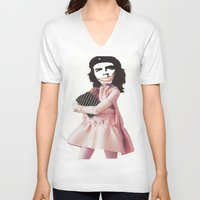 che V-neck T-shirts featuring Che by Jennifer
