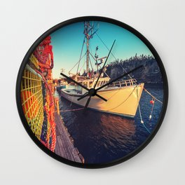 Lobster Trap Colours Wall Clock