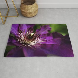 Purple Clematis Rug