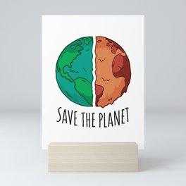 SaveThe Planet Mini Art Print