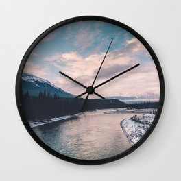 Icefields Parkway, AB III Wall Clock