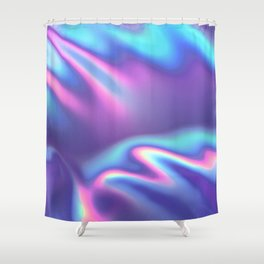 Bold Iridescence Shower Curtain