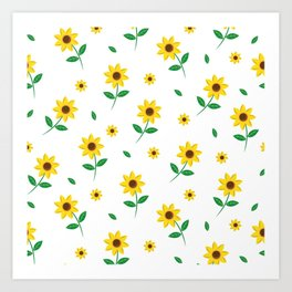 Tiny Sunflowers Art Print
