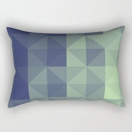 Navy Geometric Pattern Rectangular Pillow