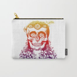 Flower Skull - Nature Design Carry-All Pouch