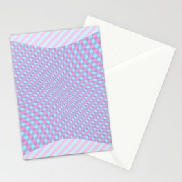 Pinch Effect on Lines Stationery Cards