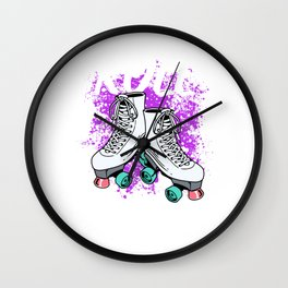 Roller Skater Gift Print Awesome Roll Out Skating Skater Product Wall Clock