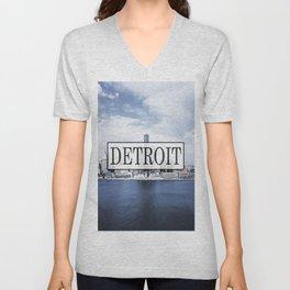 Detroit Typography Unisex V-Neck