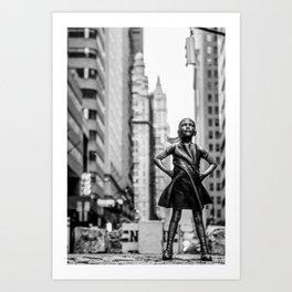 Fearless Girl New York City Art Print