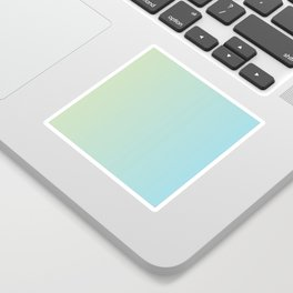Turquoise Green Blue Gradient Sticker