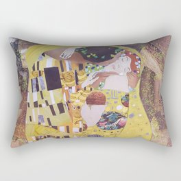 THE KISS COLLAGE. GUSTAV KLIMT. Rectangular Pillow