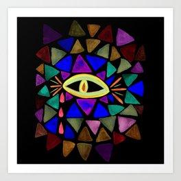 Crystaleyes 4 Art Print