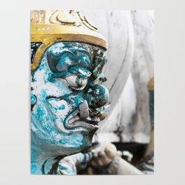 Buddhist Temple Demon Poster