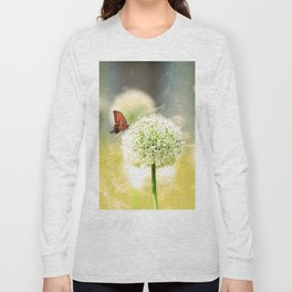 Allium fantasy flowers with butterfly Long Sleeve T-shirt