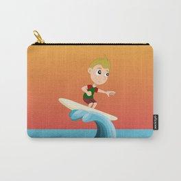 Boy sufer cartoon Carry-All Pouch