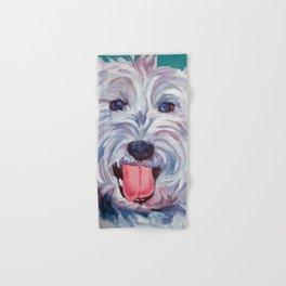 The Westie Kirby Dog Portrait Hand & Bath Towel