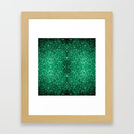 Beautiful Emerald Green glitter sparkles Framed Art Print