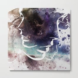 Complicated Feelings Abstract ART Metal Print