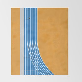 Finish Line | Aerial Illustration Throw Blanket