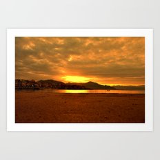 sunset landscape 55 Art Print