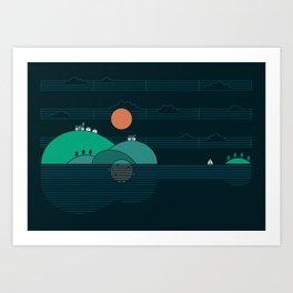 Island Folk Art Print