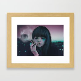 Indie Electro sunset Framed Art Print