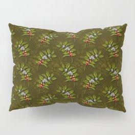 Coffee Plant Branches w/ Coffee Cherries & Flowers Pillow Sham