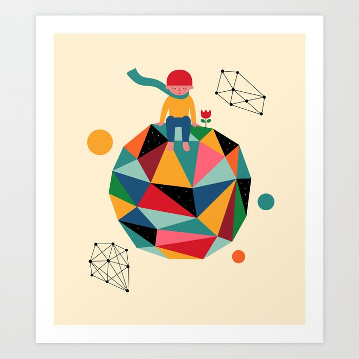 Discover the motif LONELY PLANET by Andy Westface as a print at TOPPOSTER