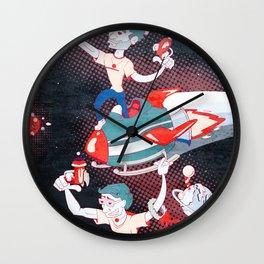 Rocket Christmas Wall Clock