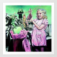 alice x zhang Art Prints featuring Alice  by Cristian Blanxer