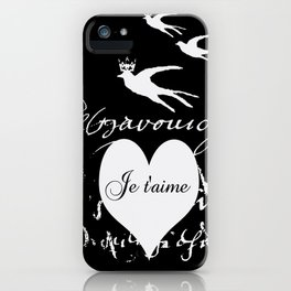 I love you, Je t'aime iPhone Case