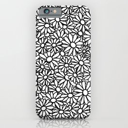Imperfect Daisy Patch Outline iPhone Case