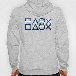 Playstation Controller Pattern - Navy Blue Hoody