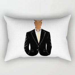 Horse in Suit Rectangular Pillow