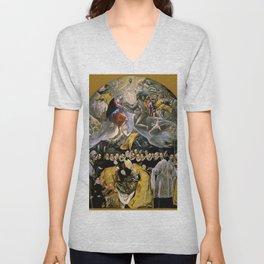 "El Greco (Domenikos Theotokopoulos) ""The Burial of the Count of Orgaz"" Unisex V-Neck"