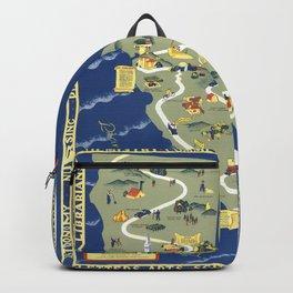 CALIFORNIA University map MAP Berkeley Backpack