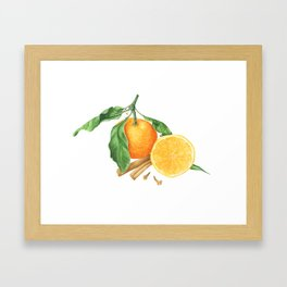 Tangerines and spices Framed Art Print