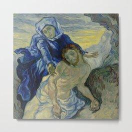 Vincent van Gogh - Pietà (after Delacroix) (1889) Metal Print