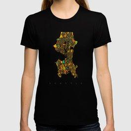 Seattle map T-shirt