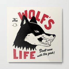 The Wolf's Life Metal Print