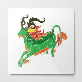 Qilin Metal Print