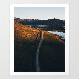 Midnight Sun (Snæfellsnes Peninsula) Art Print