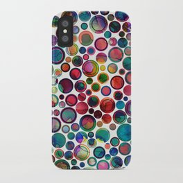 Dots on Painted Background 2 iPhone Case