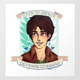 eren jaeger defense squad Art Print