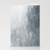 silver Stationery Cards featuring Silver by Patterns and Textures