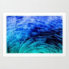RUFFLED BLUE Art Print