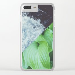 Tropic Square Clear iPhone Case