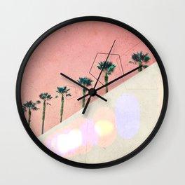 Levitated Mass (Red) Wall Clock