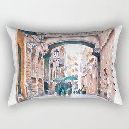 Carrer del Bisbe - Barcelona Rectangular Pillow