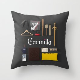Carmilla Items Throw Pillow